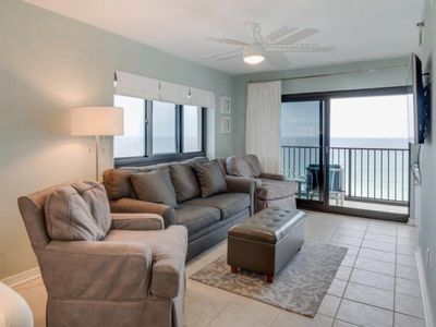 Photo for Beautifully Updated Beachfront Condo. Private Balcony With Views for Miles. Private Complex Beach Access