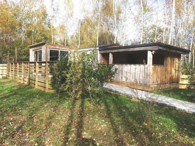 Photo for COTTAGE-CHALET cozy with JACUZZI and PRIVATE POND, in the middle of nature!