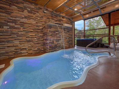 Photo for Amazing High End Luxury Indoor Pool Cabin with Theater Room and Views