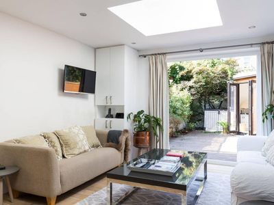 Photo for Modern 2BR Flat with Garden by Clapham Common/Battersea
