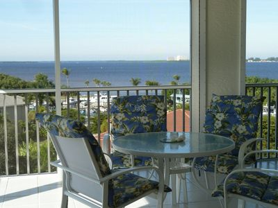 This is the lanai from which you will enjoy fabulous sunsets!