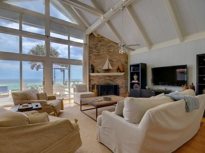 """Photo for GULF FRONT HOME - SEAGROVE- """"AZURE"""" - Large Deck, Private Pool, 3 Bdrms, Slps 8"""