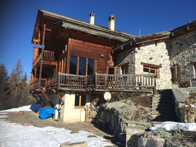 Photo for RENT GROUND FLOOR OF CHALET IN THE HEART OF VILLAGE OF MOLINES IN QUEYRAS4 Pers