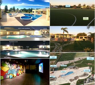 Huge villa in Portugal! Pools, Disco, Football pitch, Tennis court, BBQ & more!