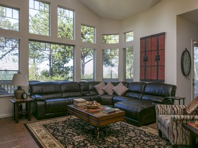 Photo for 4 bedroom plus a loft, 3 bathrooms- Ocean Views and tucked into the pines