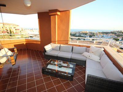 Photo for Beatiful apartment with spectacular sea view in Riviera del sol