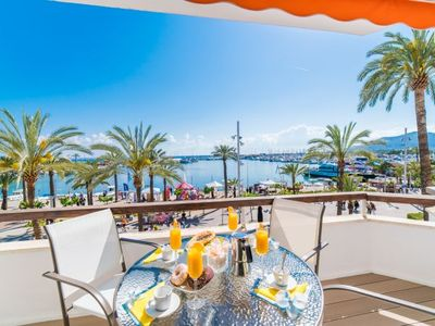 Photo for Port d'Alcudia Apartment, Sleeps 4 with Air Con and WiFi