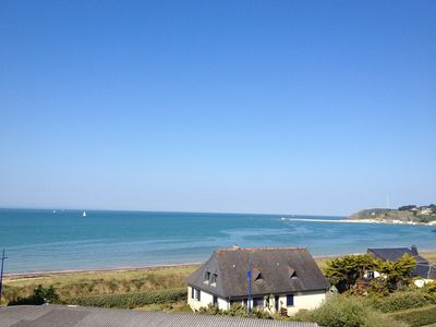 Photo for Apartment 50 m from the sea overlooking the Anglo-Norman islands and Carteret