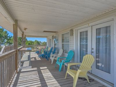 Photo for Gulf Front, Single Level Home, Lots of Parking, Quiet Neighborhood, Pet Friendly ~ Brodie House