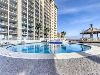 Photo for Ground-floor, beachside condo w/ shared pools, hot tub, playground, & tennis