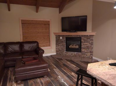 "Gas fireplace and 60"" Flat Panel TV with DirectTV"