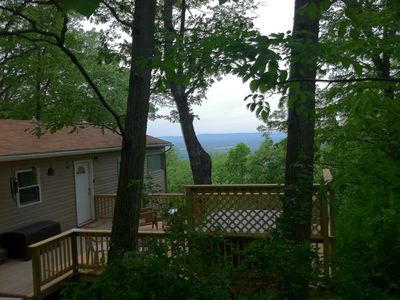 Photo for Rainbow View Cabin - Blue Ridge Mtn Retreat with Shenandoah Valley view & hottub