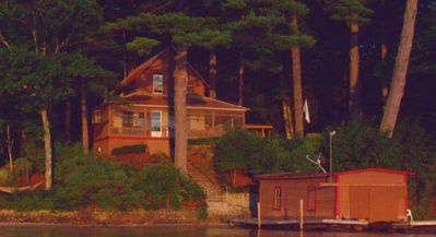 Photo for Lake House with 150' of Winnipesaukee beachfront, Dock, Very Private, Sand Bar