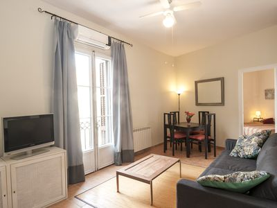 Photo for Bright Apartment On Rambla Catalunya