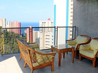 "Photo for Apartment a short walk away (366 m) from the ""Playa de Levante"" in Benidorm with Internet, Pool, Air conditioning, Lift (138559)"