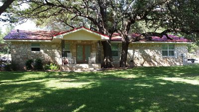 Photo for Summer is Approaching, Quiet Waterfront Home On Lake LBJ. Pet friendly