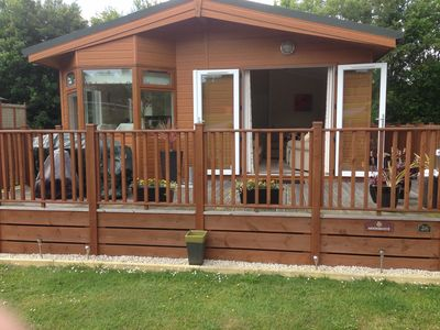 Photo for 10% Discount 10-17 & 24-31 Aug Lodge, Hot Tub on 5* Finlake Holiday Park, Devon