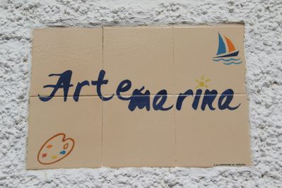 Artemarina - name plate that you'll see on arrival
