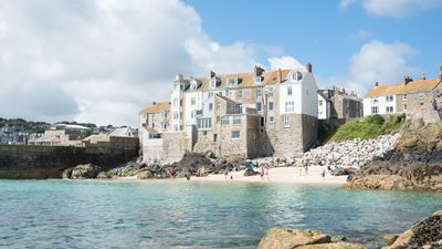 Photo for 3 Sea View Place overlooks Bamaluz beach in St Ives. Walking distance to heart of town. Free WiFi.