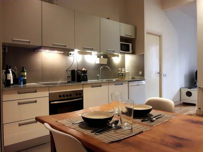 Photo for Modern Apartment City Center - Queen Size Bed + Kitchen. Malasaña.