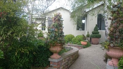 Topiary Haven nestled in a private garden..