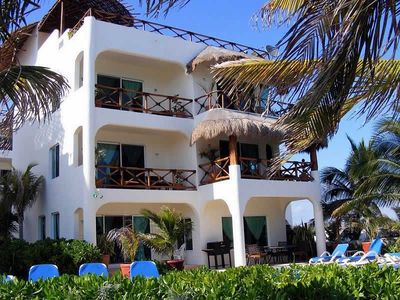 Villa Mateo view from the Caribbean Sea.