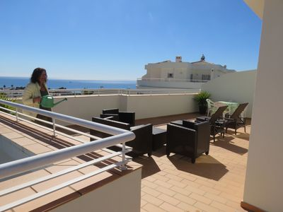 Photo for Rooftop Apartment with very nice seaview at Porto de Mos, Lagos