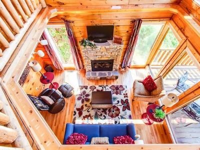 Photo for Autumn Path Cabin, Minutes from Parkway, Mountain Views, Hot Tub, Games