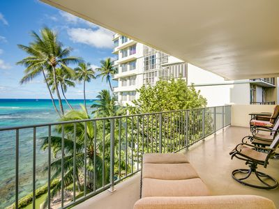 Photo for Spacious 2 Bedroom Oceanfront Condo with Full Kitchen & 'Wrap around' Lanai