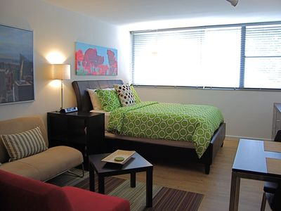 Photo for Chic Premium Studio Apartment (H) No Extra Fees! - Includes Weekly Cleanings w/ Linen Change