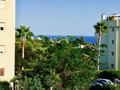 Photo for Coastal apartment with lovely sea views 5 min from the beach