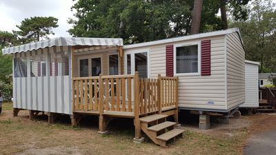 Photo for Mobil home new 6 + 2 beds on privatory ground semi shaded