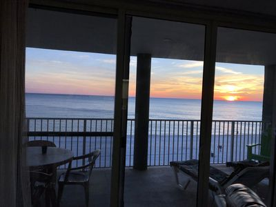 Enjoy the gorgeous sunsets from any room in the condo!