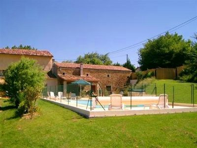 Photo for Old farm with separate entry and pool. Lake, beach, kayak, resto, Cathar castle,