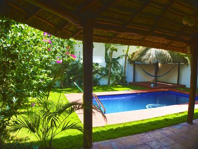 Photo for Private 4 Br Villa with Pool steps from the beach Puerto Morelos
