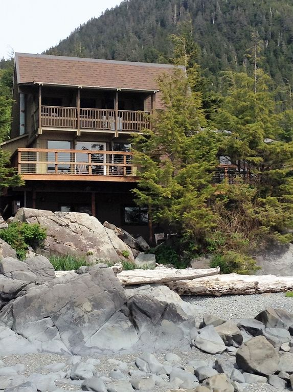 Ravens roost upper ravens roost upper cedar a frame cabin sitka house rental looking back at the cabin from the beach sciox Images