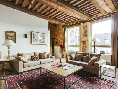 Photo for In the heart of lovely old Honfleur, only yards from restaurants, shops, museums