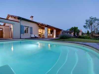 Photo for Luxury 3 bed Villa with private heated pool   with air-con on Chateau Estate