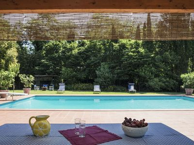 Photo for Private Villa with sauna, WIFI, A/C, private pool, hot tub, TV, patio, parking, close to Lucca
