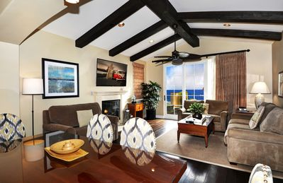 Spacious, luxurious gathering room opens to large unobstructed ocean view deck