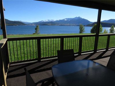 Photo for On Lake Dillon-End Unit. Mountain, Lake Views. Covered Deck, Fireplace, Hot Tub, Near Amphitheater