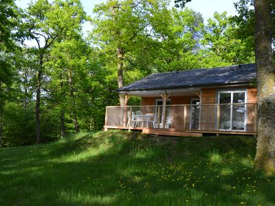 "Photo for Chalet ""Carpe Diem"" 70 m² wilderness-Corrèze Dordogne"