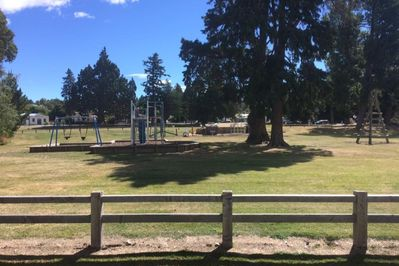 The playground, as seen from the verandah