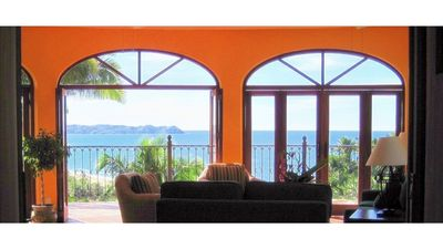 The VISTA from the living room of the Big House -- ocean, beach, pueblos!