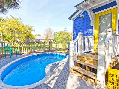 Wondrous Beautiful Pet Friendly Cottage With Private Pool Option To Heat Fenced Yard Screened Porch Tybee Island Download Free Architecture Designs Osuribritishbridgeorg
