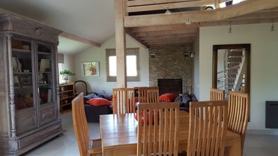 Photo for 10 min from the beaches of Biarritz and Bidart, modern wood house (148m2)