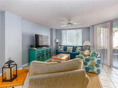 Photo for Oceanfront Condominium with Pool. Private Boardwalk to Beach! Pet Friendly.