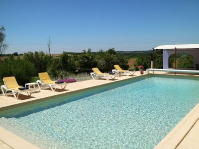 Photo for Les Pruniers 4* rated gites, set within our own plum orchards with heated pool
