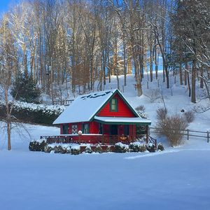 Photo for Honeymoon Cabin - Petting Zoo! HOT TUB, 15+ acres, Trout Stream - Everything!!!