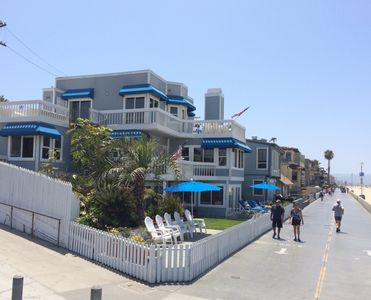 Photo for Beachhouse used on TV show 90210 Only Home With Sand On 2 Sides!  Middle unit